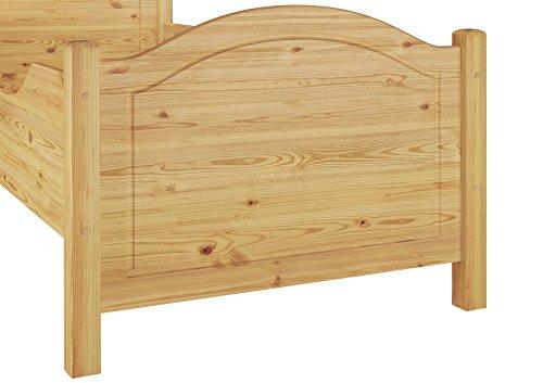 60.40-10 Seniorenbett Kiefer Massivholz 100×200 cm kompl. mit Rollrost - 5