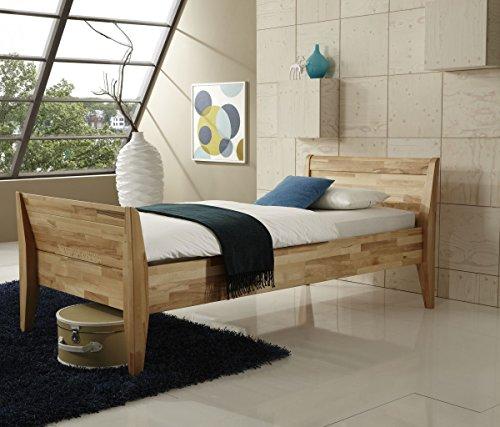 Dreams4Home Komfortbett 'Senior II', Massiv, Bett, Komfort, Seniorenbett, Kernbuche, natur, 100x200 cm