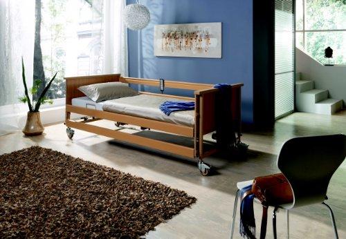 Pflege- und Seniorenbett Dali II 90x200cm, elektrisch verstellbarer Lattenrost, Burmeier -