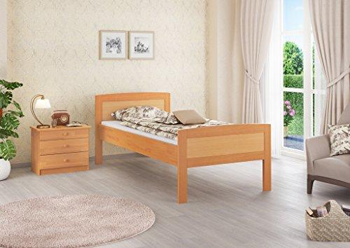60.72-09 Seniorenbett Buche extra hoch, 90x200 cm, mit Rollrost