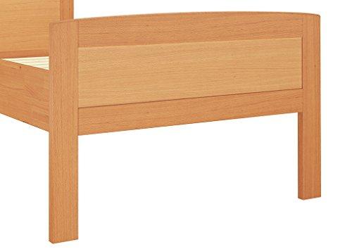 seniorenbett buche extra hoch 90x200 cm mit rollrost seniorenbetten. Black Bedroom Furniture Sets. Home Design Ideas