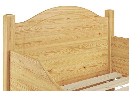 60.40-09 Seniorenbett Kiefer mass. 90×200 cm kompl. mit Rollrost - 4