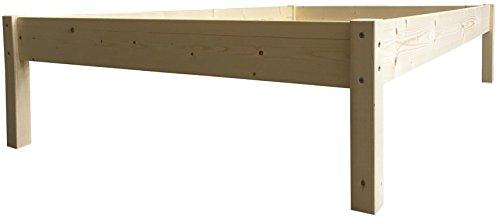 LIEGEWERK Erhöhtes Bett Massivholz, 55cm