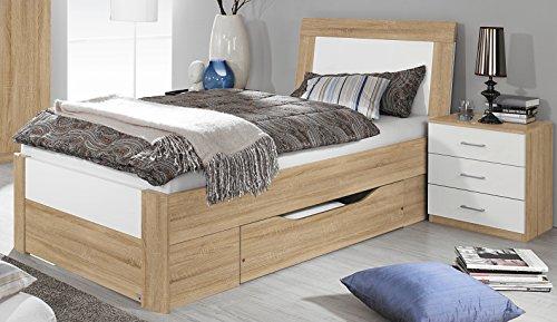 Bett mit 1 Schubkasten Eiche Sonoma