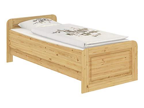 Erst-Holz® Seniorenbett Extra hoch 100x200 Einzelbett Holzbett Massivholz Kiefer Bett mit Rollrost 60.42-10 - 2