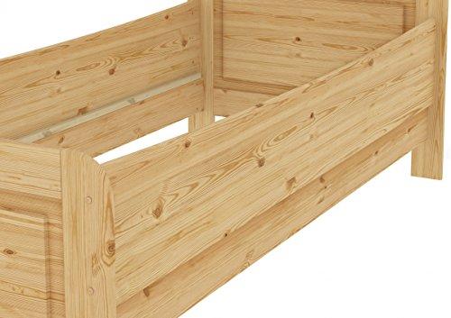 Erst-Holz® Seniorenbett Extra hoch 100x200 Einzelbett Holzbett Massivholz Kiefer Bett mit Rollrost 60.42-10 - 3