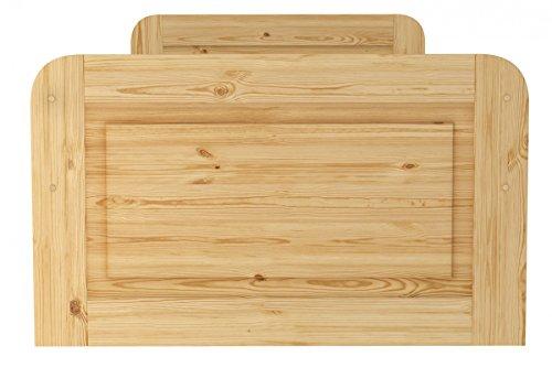 Erst-Holz® Seniorenbett Extra hoch 100x200 Einzelbett Holzbett Massivholz Kiefer Bett mit Rollrost 60.42-10 - 4