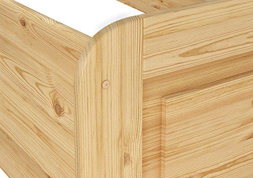 Erst-Holz® Seniorenbett Extra hoch 100x200 Einzelbett Holzbett Massivholz Kiefer Bett mit Rollrost 60.42-10 - 5