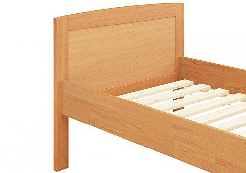 Erst-Holz® Massivholzbett 100x200 Einzelbett Buche-Bettgestell ohne Rollrost 60.72-10 or - 3