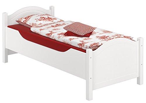 Erst-Holz® Seniorenbett extra hoch waschweiß 100x200 Massivholz Holzbett Einzelbett Gästebett 60.40-10 W oR - 2