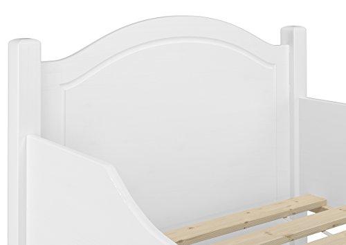 Erst-Holz® Seniorenbett extra hoch waschweiß 100x200 Massivholz Holzbett Einzelbett Gästebett 60.40-10 W oR - 3
