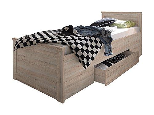 Komfortbett Einzelbett 100×200 cm Eiche - 2