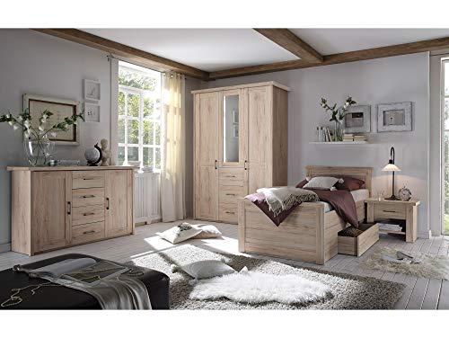 Komfortbett Einzelbett 100×200 cm Eiche - 3