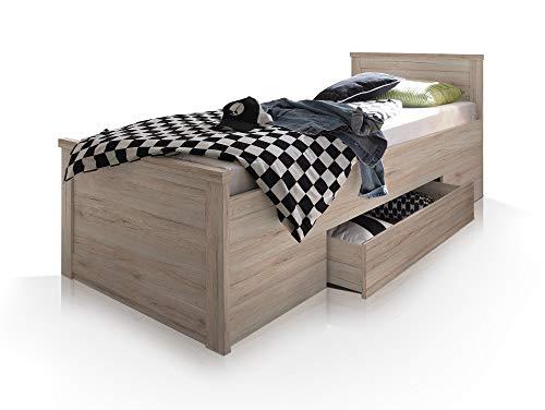 moebel-eins LÜTTICH Komfortbett/Einzelbett 100x200 cm Eiche San Remo Dekor - 4