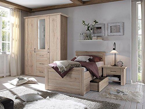 moebel-eins LÜTTICH Komfortbett/Einzelbett 100x200 cm Eiche San Remo Dekor - 5