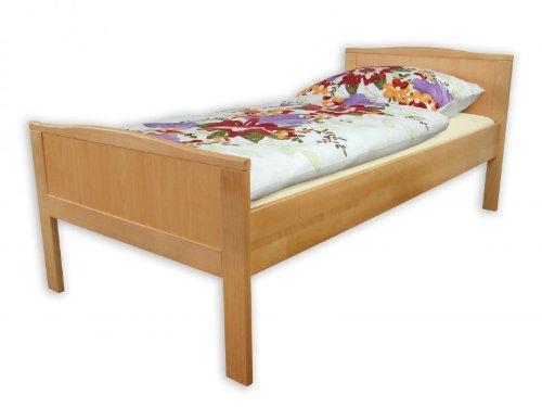 60.70-10 Seniorenbett Buche extra hoch, 100x200 cm, mit Rollrost