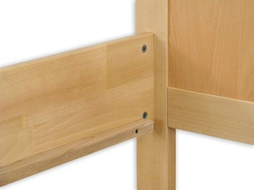 60.70-10 Seniorenbett Buche extra hoch, 100×200 cm, mit Rollrost - 8