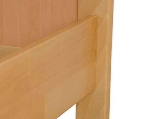 60.70-10 Seniorenbett Buche extra hoch, 100×200 cm, mit Rollrost - 7