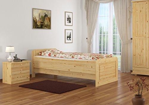 60.42-09 Seniorenbett Massivholz 90 x 200 cm, extra hohes Bett - 2