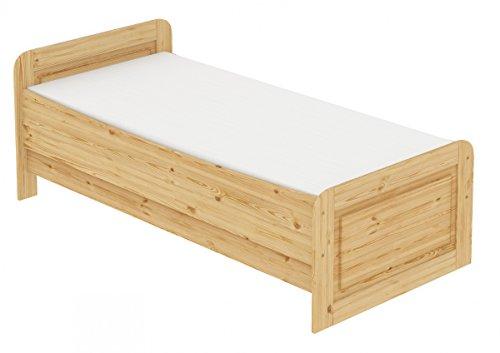 60.42-12 M Seniorenbett Massivholz 120 x 200 cm, extra hohes Bett mit Matratze