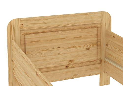 60.42-12 M Seniorenbett Massivholz 120 x 200 cm, extra hohes Bett mit Matratze - 4