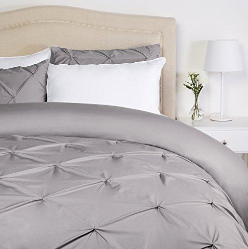 Pinzon Bettwäsche-Set mit Quetschfalten, Grau