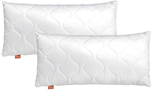 sleepling Basic 100 Kopfkissen Set 40 x 80 cm, weiß