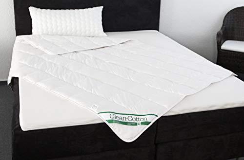 Badenia Bettcomfort Steppbett Clean Cotton leicht, 155 x 200 cm, weiß - 6