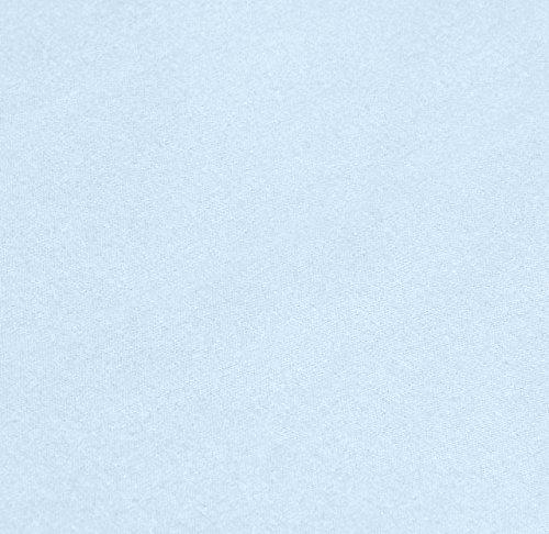 AmazonBasics 'Everyday' Bettlaken aus 100% Baumwolle, 280 x 320 cm - Blau - 3