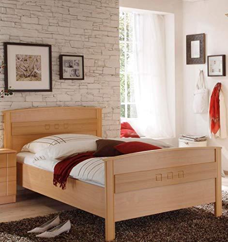2024.5567 Einzelbett - Seniorenbett - Buche dekor - Komfortbett LF 100x200cm