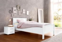 Komfortbett, weiß, 90/200cm,